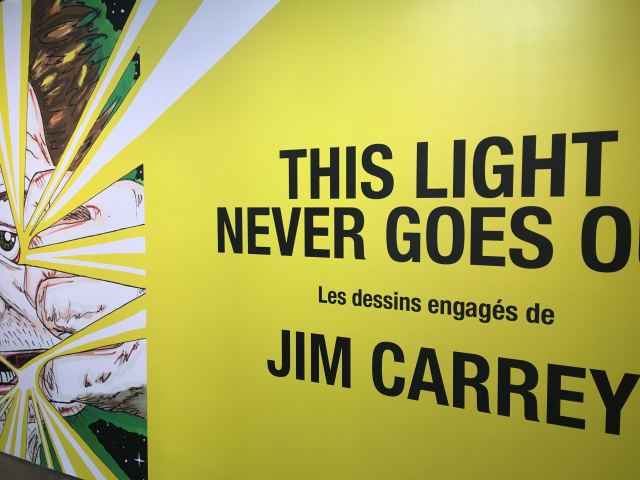 Voyez les dessins engagés de Jim Carrey à l'expo «This light never goes out» au Centre Phi